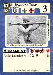 Bazooka Team Unit Card